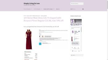 simplylivingonless.com